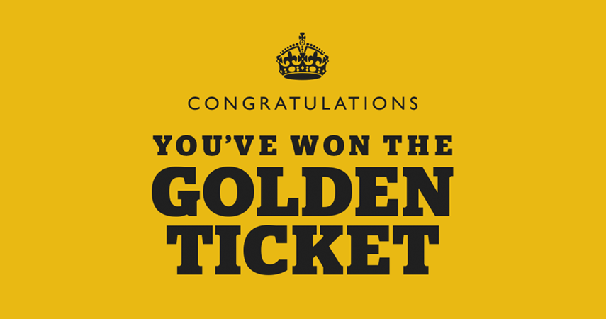 Will you discover our golden ticket to Jersey War Tunnels?