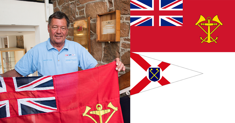 Vice Commodore David De Carteret and Ensign of St Helier Yacht Club